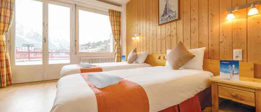 Chalet Hotel La Sapiniere bedroom